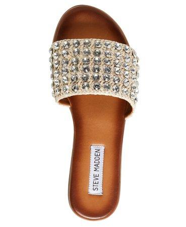 Steve Madden Women's Firework Rhinestone Sandals & Reviews - Sandals & Flip Flops - Shoes - Macy's gold