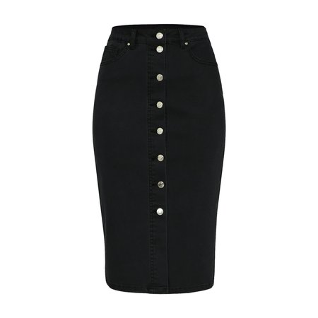 Denim pencil skirt at Wolf & Badger
