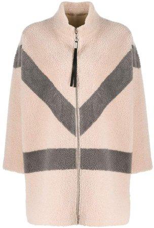 Liska oversized colour-block coat
