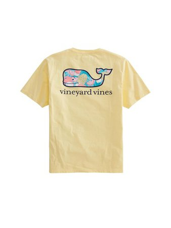 yellow tropical shirt - vineyard vines