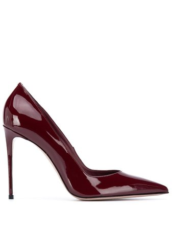 Le Silla, Burgundy Patent Leather High Heels Pumps