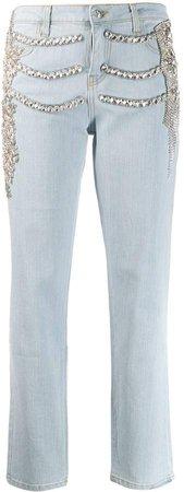 crystal embellished Boyfriend jeans