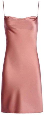 Simply Silk Studio - Nana Silk Slip Dress In Dusty Rose