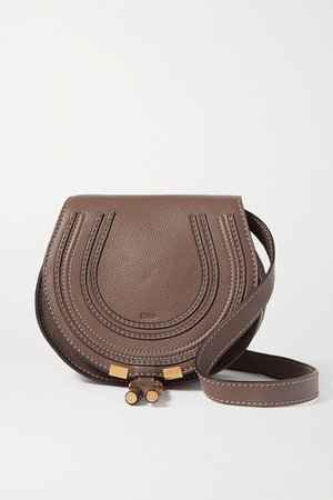 Marcie Mini Textured-leather Shoulder Bag - Green