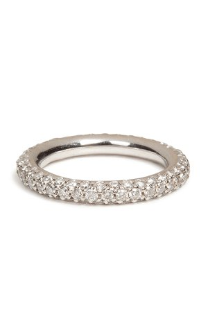 18K White Gold 1885 Chunky Ring with Pave Diamonds Gr. One Size