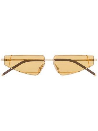 Fendi Eyewear gold tinted sunglasses