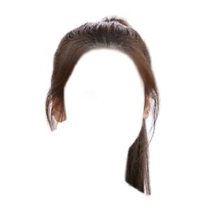 brown hair png ponytail