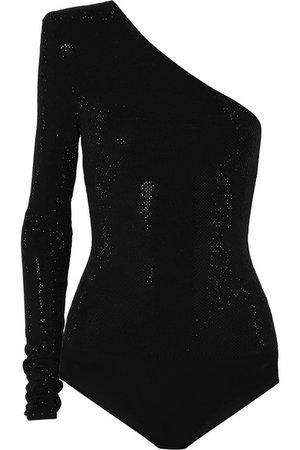 Alexandre Vauthier   One-shoulder crystal-embellished stretch-jersey bodysuit   $2620