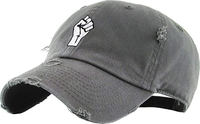 *clipped by @luci-her* KBSV-029 BLK Fist Dad Hat Baseball Cap Polo Style Adjustable: Clothing