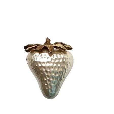 Vintage J.J. Signed 3D Strawberry Fruit Pin Brooch Imitation | Etsy
