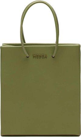 Medea Short Leather Tote Bag