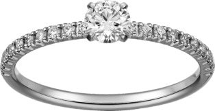 CRN4744300 - Etincelle de Cartier ring - Platinum, diamonds - Cartier