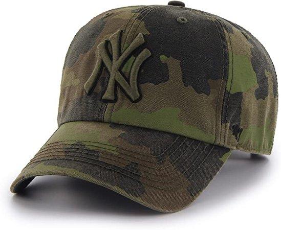 Amazon.com : '47 MLB New York Yankees Frontline Green Camo Adjustable Hat/Cap : Clothing