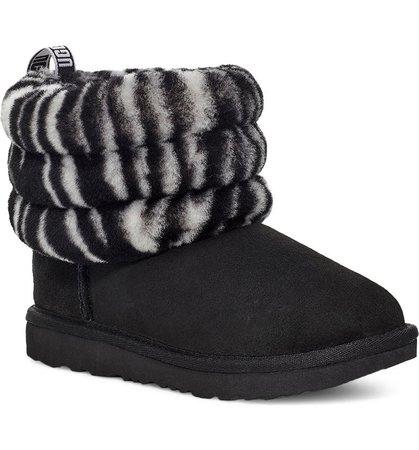 UGG® Mini Fluff Genuine Shearling Bootie (Walker, Toddler, Little Kid & Big Kid) | Nordstrom