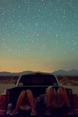 summer stargazing night drive aesthetic