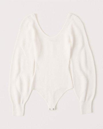 Women's Scoopneck Knit Bodysuit | Women's | Abercrombie.com