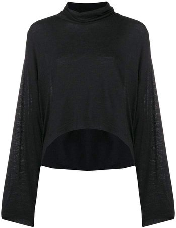 cutout funnel-neck top