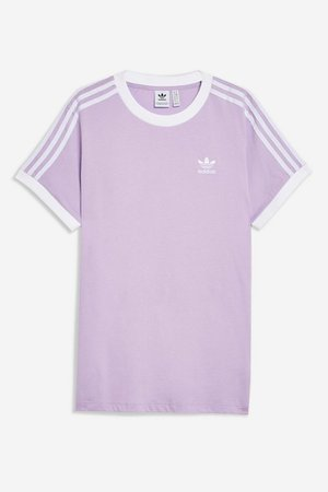 Three Stripes T-Shirt by adidas | Topshop purple