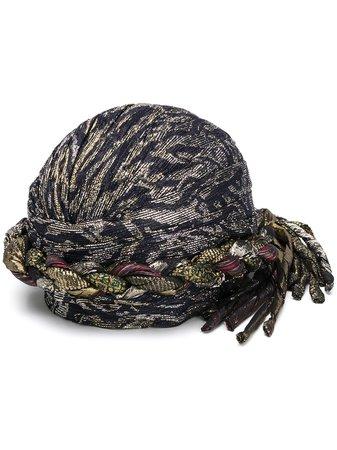 Saint Laurent Metallic Woven Hat - Farfetch