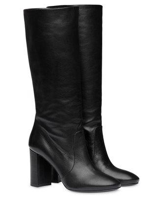 Prada High Heeled Boots 1W684LF085034 Black   Farfetch