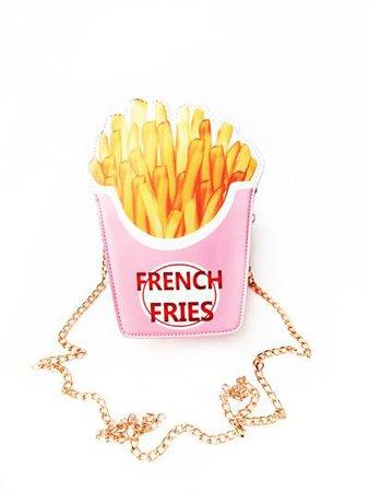radgirl.fashion - pink french fry purse $32.99