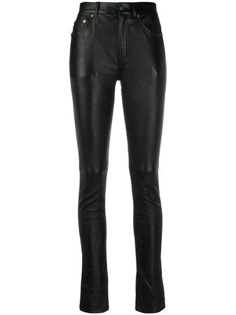 Saint Laurent skinny-fit Leather Trousers - Farfetch
