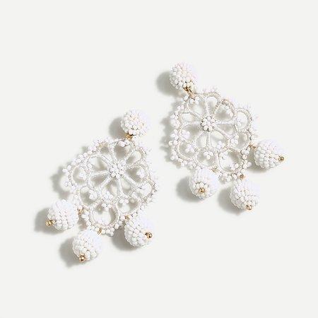 J.Crew: Beaded Crochet Statement Earrings For Women