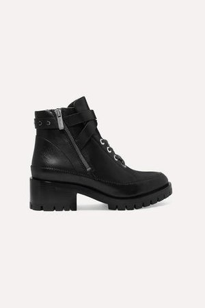 Hayett Leather Ankle Boots - Black