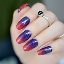blue red nails - Google Search