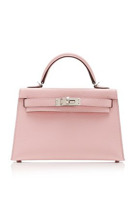 Hermès 20cm Rose Sakura Epsom Leather Mini Kelly II by Hermès Vintage by Heritage Auctions | Moda Operandi