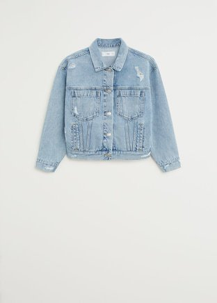 Faded denim jacket - Women | Mango USA blue
