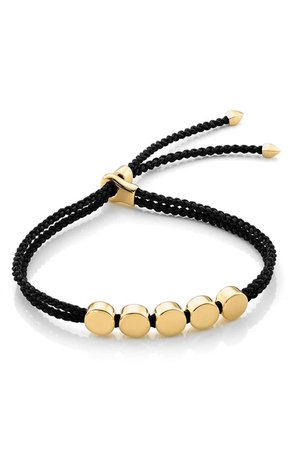 Monica Vinader Engravable Linear Bead Friendship Bracelet | Nordstrom