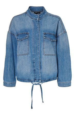 VERO MODA Nova Boxy Denim Jacket blue
