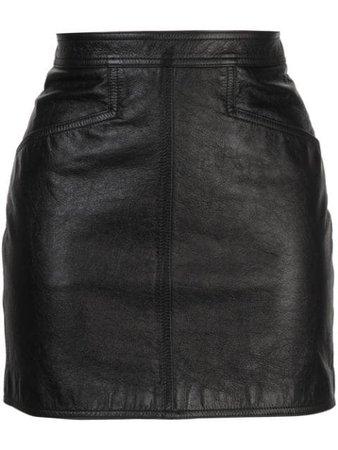 Saint Laurent Fitted Mini Skirt - Farfetch