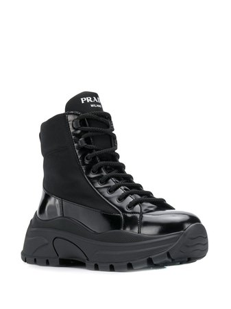 Prada Platform Combat Boots   Farfetch.com