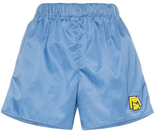 logo patch shorts