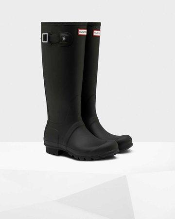 Womens Black Tall Wellies | Official Hunter Boots