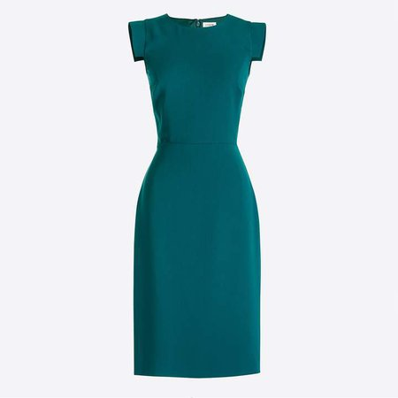 Cap-sleeve sheath dress