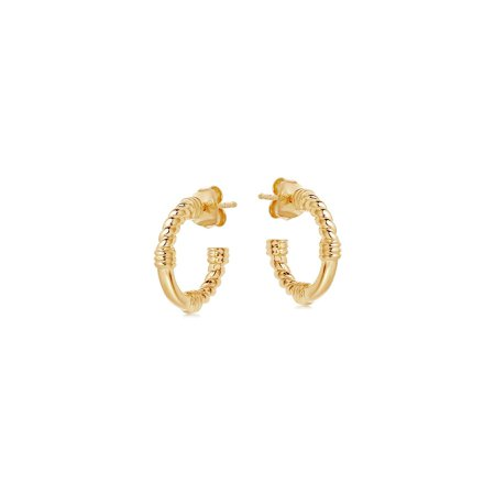 Gold Mini Cord Hoops | Missoma Limited