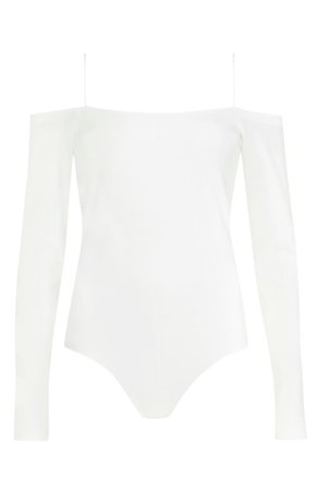 ALLSAINTS Audery Cold Shoulder Long Sleeve Bodysuit | Nordstrom