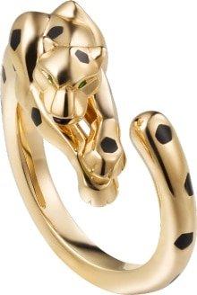 CRB4221600 - Panthère de Cartier ring - Yellow gold, tsavorite garnets, onyx - Cartier