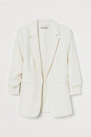 Gathered-sleeve Jacket - White - Ladies | H&M US