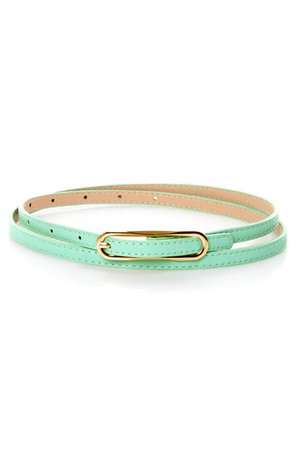 Cute Mint Green Belt - Skinny Belt - $10.00