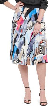 Pottery Print Pleated Skirt