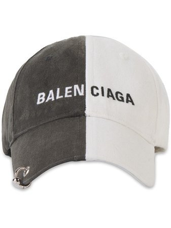 Balenciaga Casquette Bicolore à Logo Brodé - Farfetch