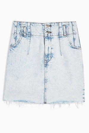 Acid Bleach Wash Denim Mini Skirt | Topshop