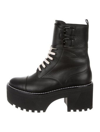 Louis Vuitton Leather Platform Ankle Boots - Shoes - LOU212559   The RealReal