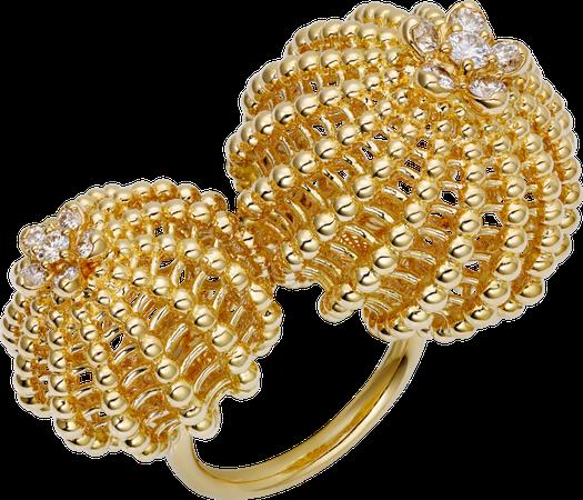 CRN4747300 - Cactus de Cartier ring - Yellow gold, diamonds - Cartier