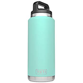 Amazon.com: YETI Rambler 36oz Vacuum Insulated Stainless Steel Bottle with Cap (Stainless Steel) (Seafoam): Sports & Outdoors