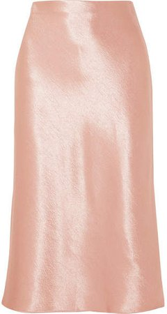 Hammered-satin Skirt - Blush